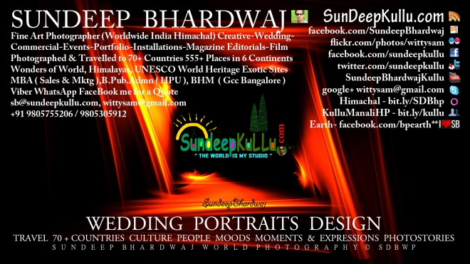 SunDeepKullu.com SunDeep Bhardwaj World Photography SDBWP™® Fine Art Wedding's by SDB SDBFA™® VISITING CARD FRONT